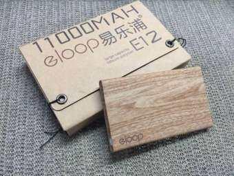 แบตเตอรี่สำรอง Eloop ของแท้ รุ่น E12 11000mAh Wood Style-