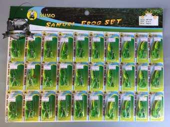 เหยื่อกบยางแผง SUMO SAMURI FROG SET