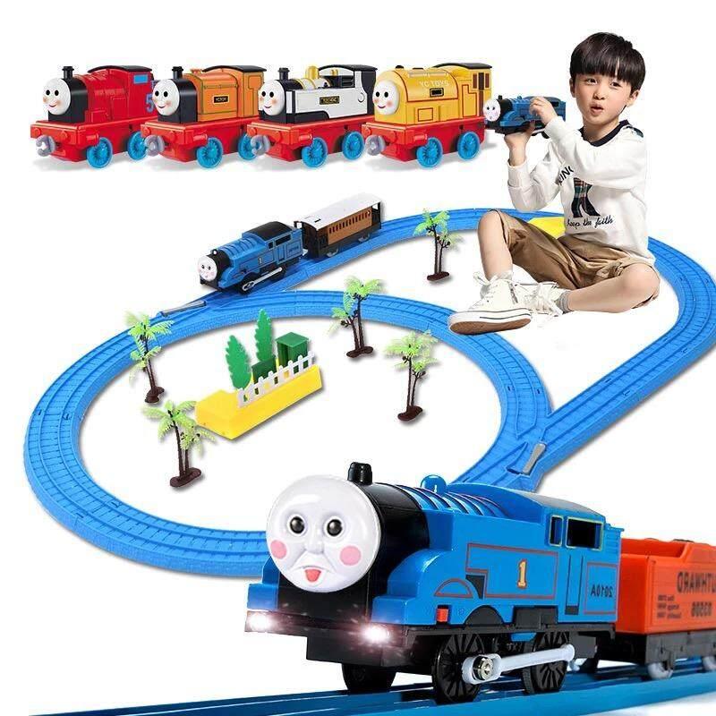 รถไฟเล็ก 24ชิ้น ของเล่น ลดกระหน่ำวันนี้ ขายถูกที่สุด!! รถไฟโทมัส พร้อมราง มีไฟ มีเสียง เหมือนจริง By Senshopee.