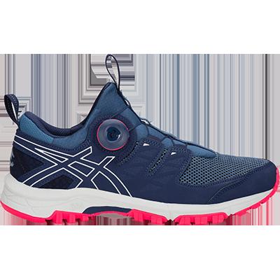 Asics :: Gel-Fujirado (women) รองเท้าวิ่งเทรล รองเท้าวิ่งผู้หญิง รองเท้าออกกำลังกาย มีเจลลดการกระแทก ระบบเชือกอัตโนมัติ น้ำหนักเบา ของแท้ 100% 2.18.