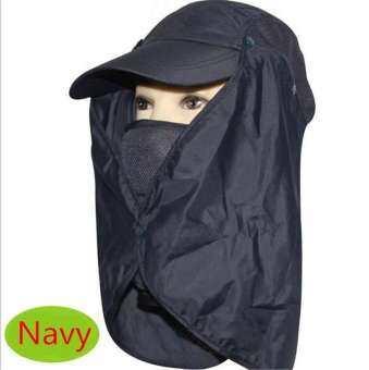 KIWI Thailand หมวกผ้ากันแดด หน้ากากบังแดดร้อน ระบายอากาศดี ปิดหน้าถีงคอรอบ 360
