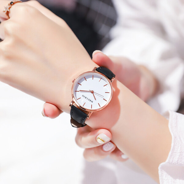 New Ladies Watch Female Middle School Student Korean Style Fashion Simple Fresh Girl Ins Style High School Belt Female Malaysia