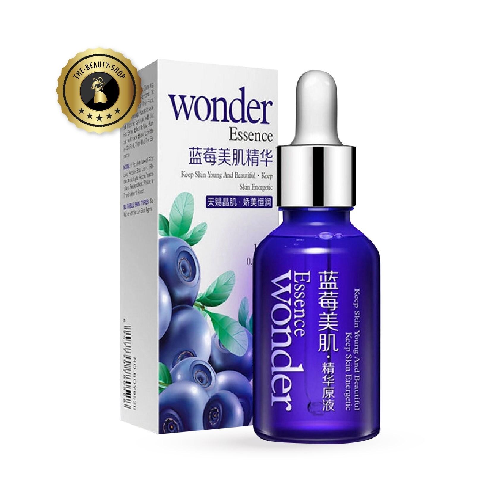 ( สินค้าขายดี / ของแท้พร้อมส่ง ) เซรั่มบลูเบอร์รี่เข้มข้น BIOAQUA Wonder Essence Serum 1 ขวด / 15 ml. รักษาฝ้า รักษาสิว ลกระชับรูขุมขน