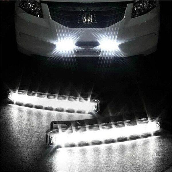 Đèn Thổi Xe 8 Đèn LED Sương Mù Lái Xe Ban Ngày Chạy Ban Ngày Đèn Trắng