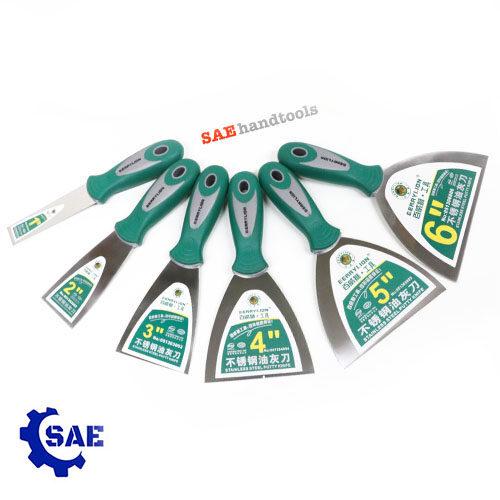 SAE เกรียงสแตนเลส 1 - 2 - 3 - 4 - 5 - 6 นิ้ว มี 6 ขนาดให้เลือก Berrylion
