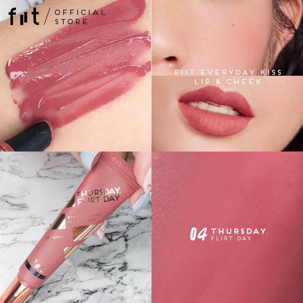 ฟิตต์ เอฟวี่เดย์ คิส ลิป แอนด์ ชีค สี เทิสเดย์ เฟลิทเดย์ Fiit Everyday Kiss Lip & Cheek 04 - Thursday, Flirt Day ( เครื่องสำอาง , ลิปแมท , ลิปสติก , ลิปสติกเนื้อแมท , ลิปติดทน ,บางเบา , ชุ่มชื้น ).