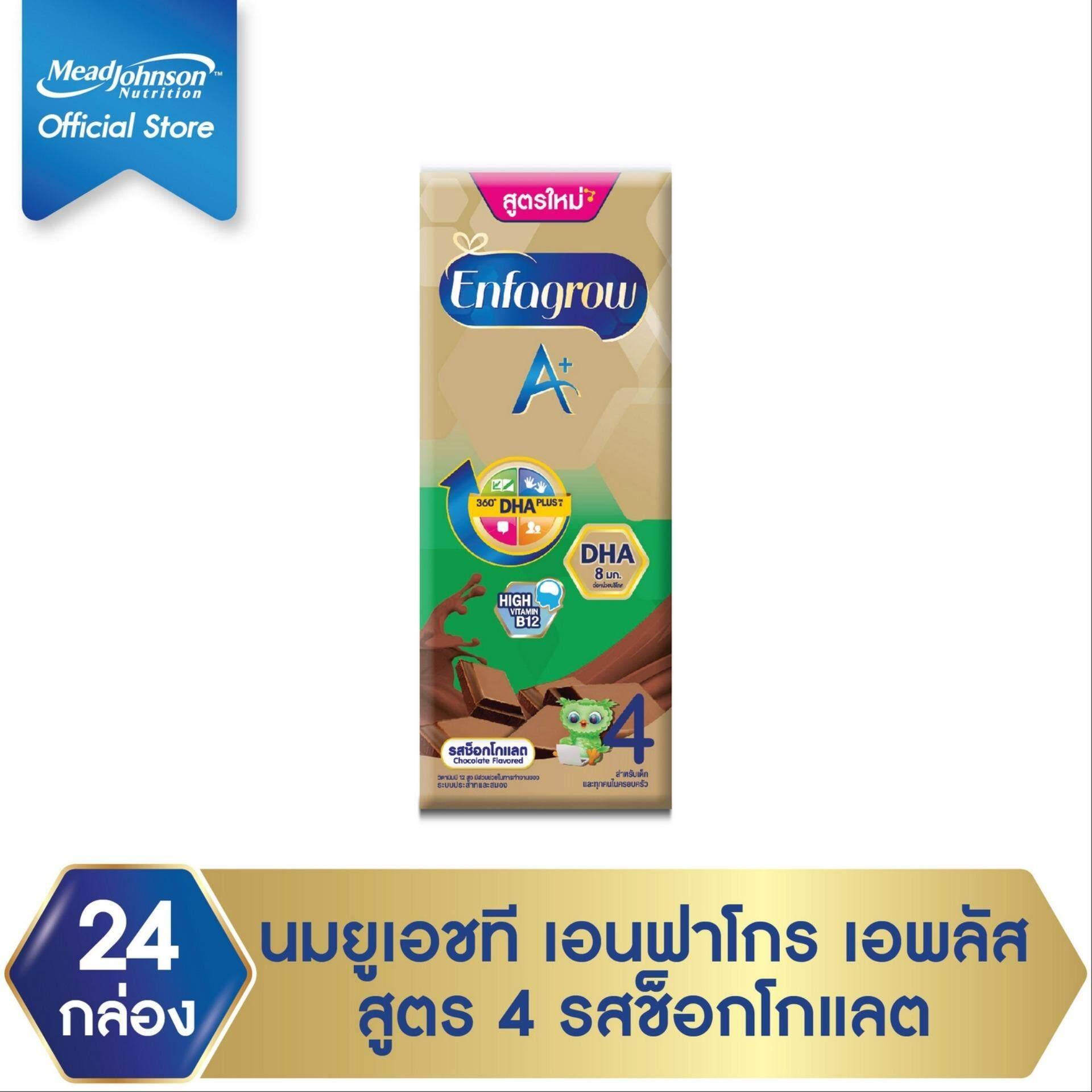 นมกล่อง ยูเอชที Enfagrow เอนฟาโกร เอพลัส รสช็อคโกแลต Uht สำหรับ เด็ก 24 กล่อง 180 มล. By Lazada Retail Enfagrow.