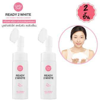 karmart  2in1 Bubble Mousse Cleanser 120ml Cathy Doll Ready 2 White x 2ชิ้น