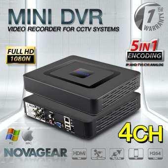 Mini DVR 4CH เครื่องบันทึกภาพ 4 ช่อง FULL HD 1080N, 720P, P2P 5 โหมดรองรับ TVI, AHD, IP, CVI, Analog-