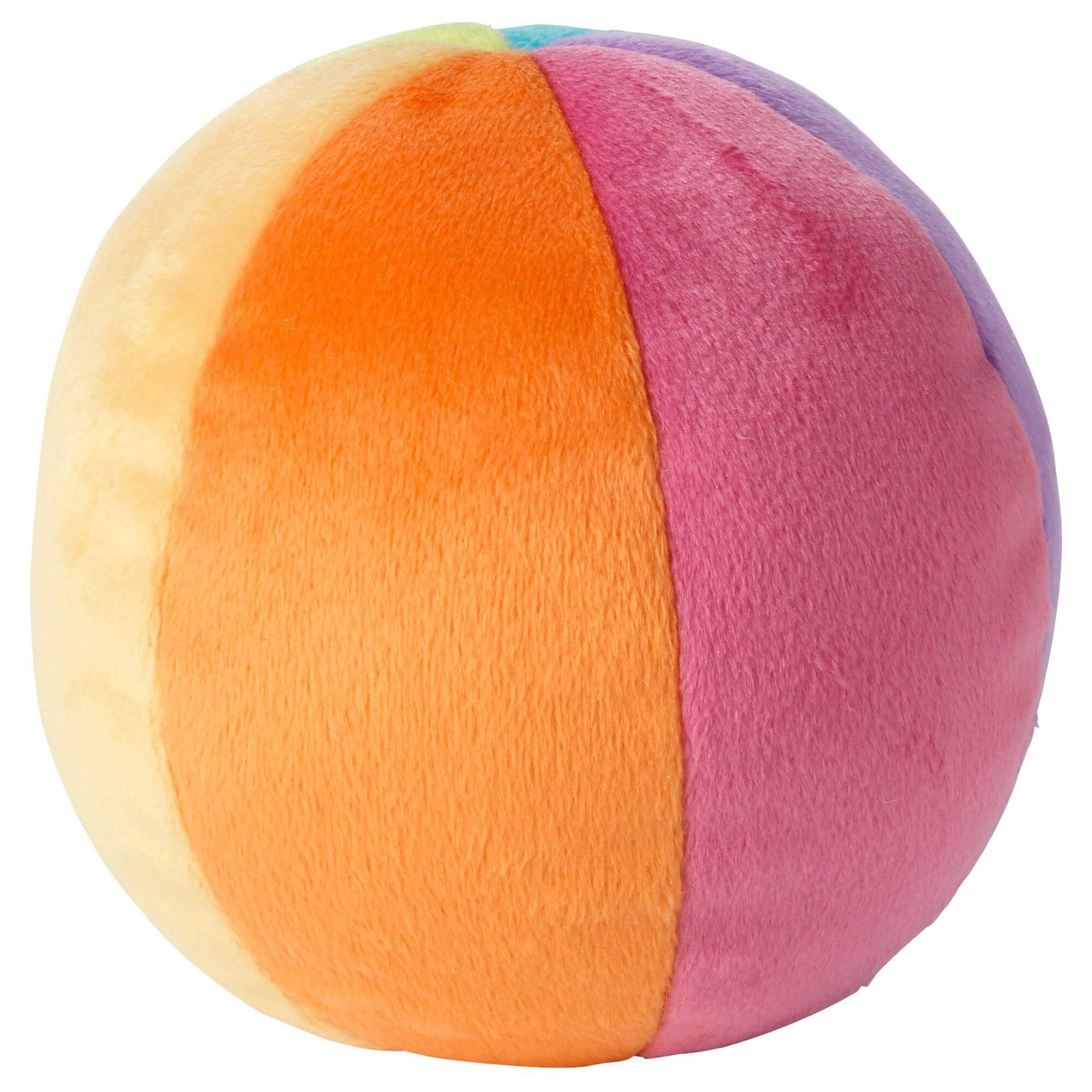 Ikea Leka เลียคก้า ลูกบอลผ้า ลูกบอล ของเล่นเด็กทารก เหมาะสำหรับทารกแรกเกิดขึ้นไป เส้นผ่านศูนย์กลาง 10 ซม. (หลากสี) By Healthy Organic Store.