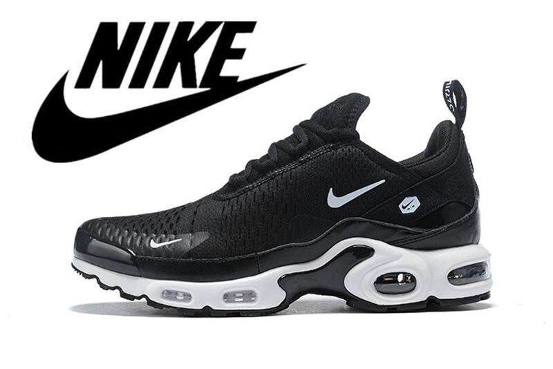 Nike_Air_Max_Plus TN Men's Air Cushion Shoes Running Shoes Mesh Ventilation Black and White 40-46