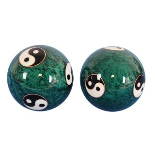 Fitness Hand Balls Carved Tai Chi Pattern Fitness Exercise Stress Ball Tai Chi Ball Cloisonne Craft Collection thumbnail