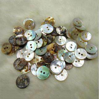 UNI 100 PCS Lot Natural Mother of Pearl Round Shell Sewing Buttons 10mm thumbnail