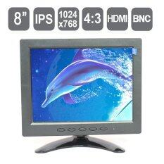 "8"" IPS Industrial LCD Monitor , 8 inch HD Standalone HDMI CCTV LCD monitor with HDMI/VGA/AV/BNC input, 1024*768 pixels"