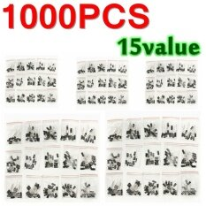 ทบทวน (0 1Uf 220Uf) Newest 200 Pcs 15 Values Electrolytic Capacitor Assortment Kit Intl