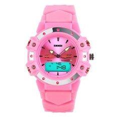 ราคา 0821 นาฬิกาสตรีมัลติฟังก์ชั่คู่เวลานาฬิกา 50 เมตรจอแสดงผล Led กันน้ำควอทซ์ดิจิตอลกีฬานาฬิกาข้อมือ นานาชาติ ใน จีน