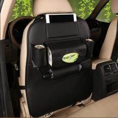 ราคา ที่เก็บของหลังเบาะรถยนต์ กระเป๋าอเนกประสงค์หลังเบาะ แบบ หนัง สีดำ 1 ชิ้น ใหม่
