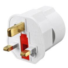 ขาย ซื้อ 1 European 2 Pin To Uk 3 Pin Plug Adaptor Euro Eu Schuko Travel Mains Adapter Uk Intl ใน แองโกลา