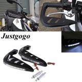 ราคา Justgogo 7 8 Universal Motorcycle Handle Bars Led Light Handguards Light Hand Guards Protector Light Black ราคาถูกที่สุด