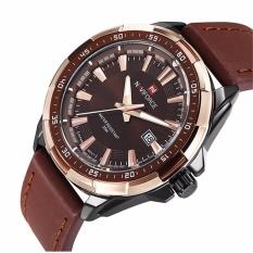 ราคา รับประกัน 1 ปี Naviforce นาฬิกาข้อมือผู้ชาย สีน้ำตาล สายหนัง รุ่น Nf9056 Brobla ราคาถูกที่สุด
