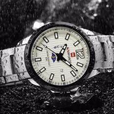 รับประกัน1 ปี นาฬิกาข้อมือ Naviforce สายแสตนเลส รุ่น Nf9084 แสดงวัน วันที่ เป็นต้นฉบับ