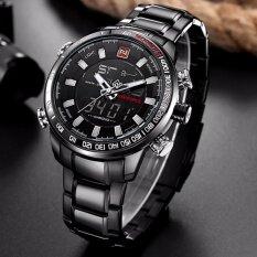 ขาย รับประกัน 1 ปี นาฬิกาข้อมือ Naviforce สายแสตนเลส รุ่น Nf9093 กันน้ำได้ 2 ระบบ กันน้ำ จับเวลา ตั้งปลุก กรุงเทพมหานคร
