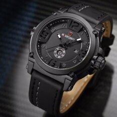 ราคา รับประกัน 1 ปี สินค้าอยู่ในไทย นาฬิกา Naviforce รุ่น Nf9099 สายหนัง เครื่องญี่ปุ่น กันน้ำ 30 เมตร แสดงวัน วันที่