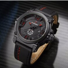 ซื้อ รับประกัน 1 ปี สินค้าอยู่ในไทย นาฬิกา Naviforce รุ่น Nf9099 สายหนัง เครื่องญี่ปุ่น กันน้ำ 30 เมตร แสดงวัน วันที่ ถูก ใน กรุงเทพมหานคร