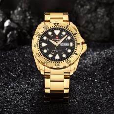 ซื้อ รับประกัน 1 ปี นาฬิกาข้อมือ Naviforce ทรง Seiko สายแสตนเลสสีทอง รุ่น Nf9105 ของแท้100 กันน้ำ3Atm ถูก นนทบุรี