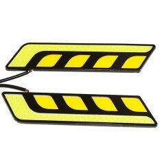 ซื้อ 1 คู่รูปร่างเตี้ย แต่รถวิ่งกันน้ำไฟ Led Drl ทิวาด้วยเทปกาวสองหน้าสำหรับยานพาหนะทั่วไปขาว สีเหลืองสว่าง Thinch