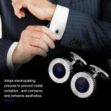 ขาย 1 Pair French Elegant Crystal Cuff Links Shirt Cuff Link With Black Box For Lawyer Groom Wedding Intl ออนไลน์ จีน