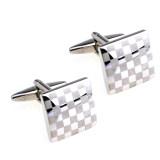 ราคา 1 Pair Suit Shirt Square Checkerboard Shape Cufflinks Buttons For Men S Gift เป็นต้นฉบับ