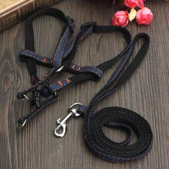 [1] สุนัขสัตว์เลี้ยงลูกสุนัขมารัดหน้าอกรัดเข็มขัดเชือกล่ามจูงเอาไว้