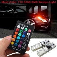 1 เซ็ต Rgb Led T10 หลอดไฟ Remote 5050 Smd Demo Light T10 W5w รถด้านข้างโคมไฟ.