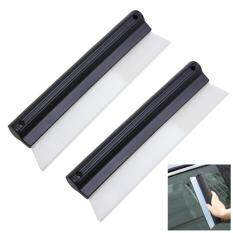 ขาย ด้ามรีดน้ำ ขนาด 10 นิ้ว 2ชิ้น Antislip Nonscratch Squeegee Car Silicone T Bar Wiper Water Blade ราคาถูกที่สุด