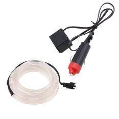 ซื้อ 10 Colors El Wire Neon Glow Car Interior Dome Lights Atmospherelamp 5M Intl ออนไลน์ จีน