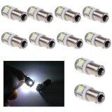 ซื้อ 10 Pcs White Light Super Bright 12V T11 Ba9S 5050 Smd 5 Led Car Bulb Lamp New Intl ใหม่