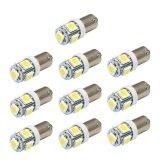 ความคิดเห็น 10 X T11 Ba9S White 5 Led 5050 Smd Car Wedge Side Light Lamp Bulb 12V Intl