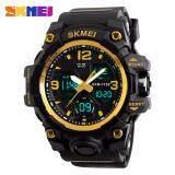 โปรโมชั่น นาฬิกาข้อมือผู้ชาย ของแท้ 100 พร้อมกล่องครบเซ็ท ดิจิตอล มัลติฟังชั่น สายเรซิน รุ่น ดิจิตอล 1155B Black Gold