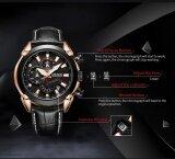 ขาย 100 Authentic Newest Megir 2065 Creative Quartz Men Watch Leather Chronograph Army Military Sport Quartz Wrist Watches 3 Colors Available Intl ออนไลน์ จีน