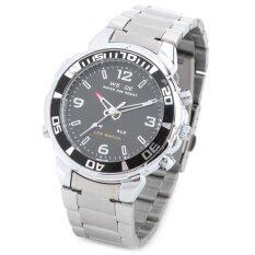 ขาย ซื้อ 100 Genuine Weide Wh 843 Sports Analog Digital Display Quartz Wrist Watch For Men Black Silver 1 X Sr626