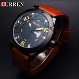 ขาย 100 Genuine Curren 8251 Men S Round Analog Wrist Watch With Three Decorated Sub Dial Alloy Case Faux Leather Band For Men ใน จีน
