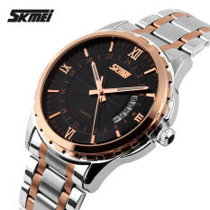 ซื้อ 100 Genuine Watches Men Luxury Brand Skmei Quartz Watch Men Full Steel Wristwatches Dive 30M Fashion Sport Watch 9069