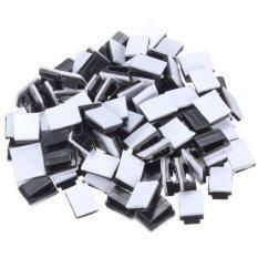ซื้อ 100 Pcs Black Plastic Wire Tie Rectangle Cable Mount Clip Clamp Self Adhesive Intl ออนไลน์ ถูก