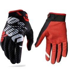 โปรโมชั่น 100 พอดีการแข่งขันถุงมือ Motocross Bike Rider Racing ถุงมือสำหรับผู้ชายและผู้หญิง ดำ แดง ขนาด Xl ถูก
