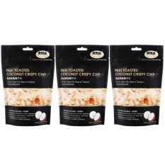 ขาย ไท่ กั๋ว ผิ่น มะพร้าวหอมไทย คุณภาพพรีเมี่ยม สูตรไร้กลูเตน ขนาด 100 กรัม Tai Guo Pin Thai Toasted Coconut Crispy Chip Gluten Free 100G 泰国品 泰国香脆椰子片 100 克 Pack3 Taiguopin