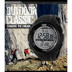 ราคา นาฬิกา 1025 ยางสายแฟชั่นกันน้ำสบาย ๆ ธุรกิจกีฬาผู้ชายชายดิจิตอลข้อมือ วัน ปฏิทิน นาฬิกาปลุก นาฬิกาจับเวลา แสง สีดำ ถูก