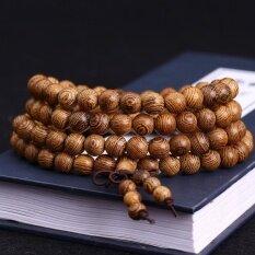 ราคา 108 8Cm Wenge Prayer Beads Tibetan Buddhist Mala Buddha Bracelet Rosary Wooden Bangle Jewelry Intl เป็นต้นฉบับ