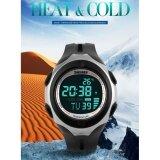 ซื้อ ยี่ห้อ นาฬิกา 1080 ใหม่เครื่องวัดอุณหภูมินาฬิกาจับเวลาสำหรับผู้ชายไลท์วันกันน้ำนาฬิกาปลุกดิจิตอล Led สปอร์ต Reloj Hombre นาฬิกาข้อมือผู้หญิงผู้ชาย Bounabay