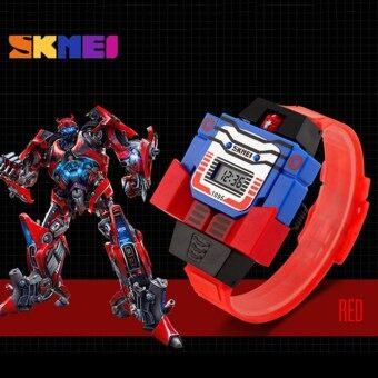 เด็กเด็ก ๆ หุ่นยนต์ดิจิตอลกันน้ำ1095 นาฬิกาข้อมือ (สีน้ำเงิน) - นานาชาติ
